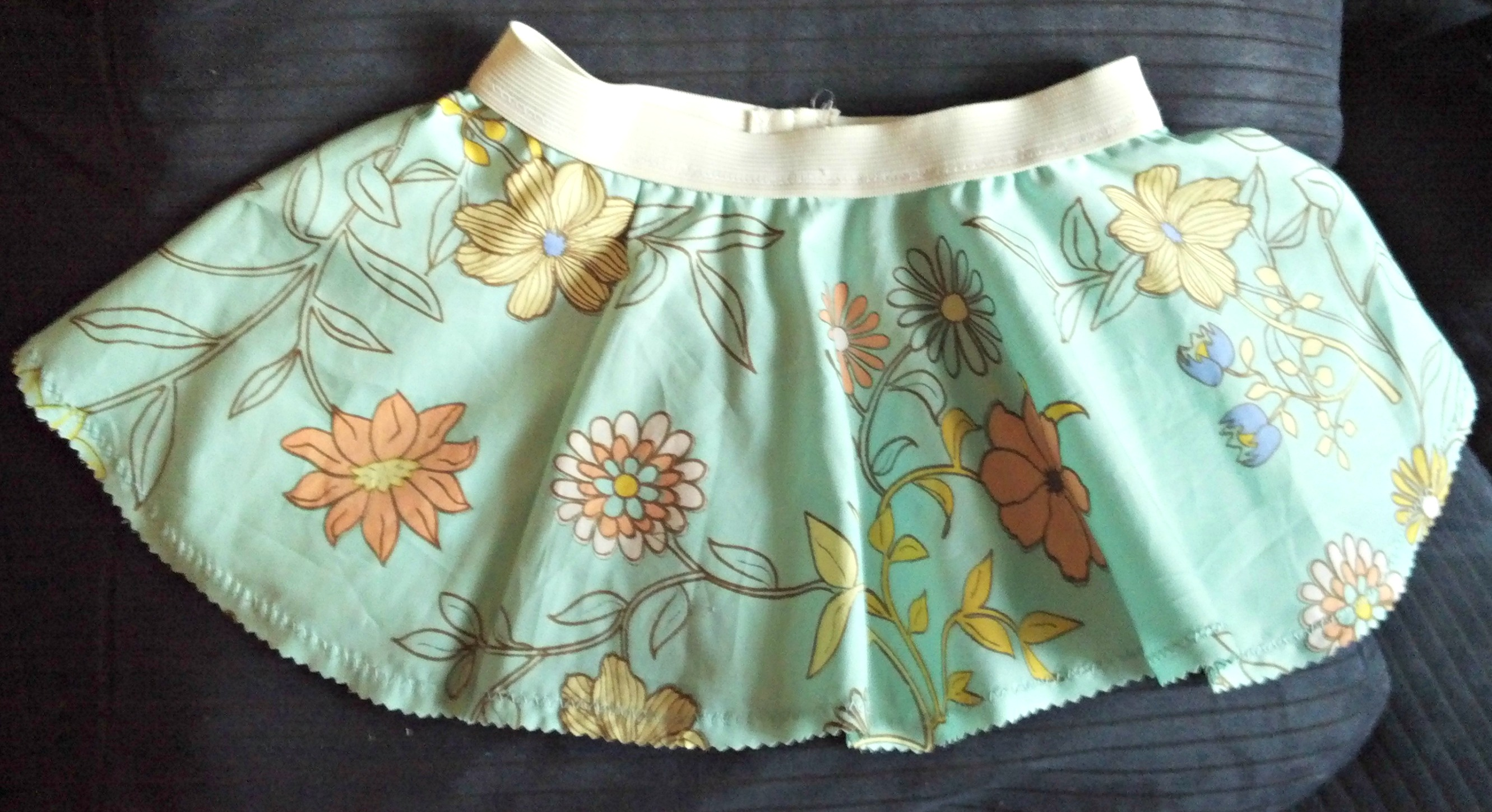 teal-floral-circle-skirt | tolmema