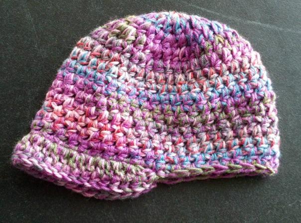 multicolor-newsboy-newborn-crochet-beanie | tolmema