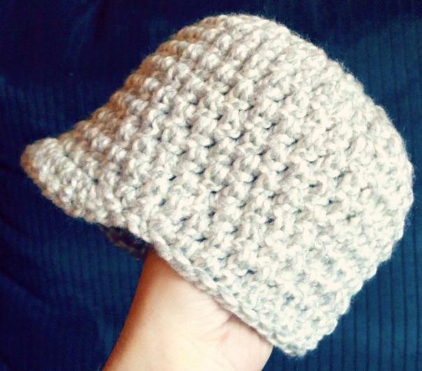 grey-newsboy-newborn-crochet-beanie | tolmema