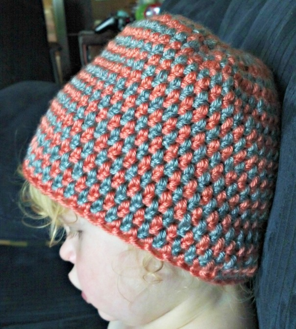 orange-grey-striped-beanie | tolmema