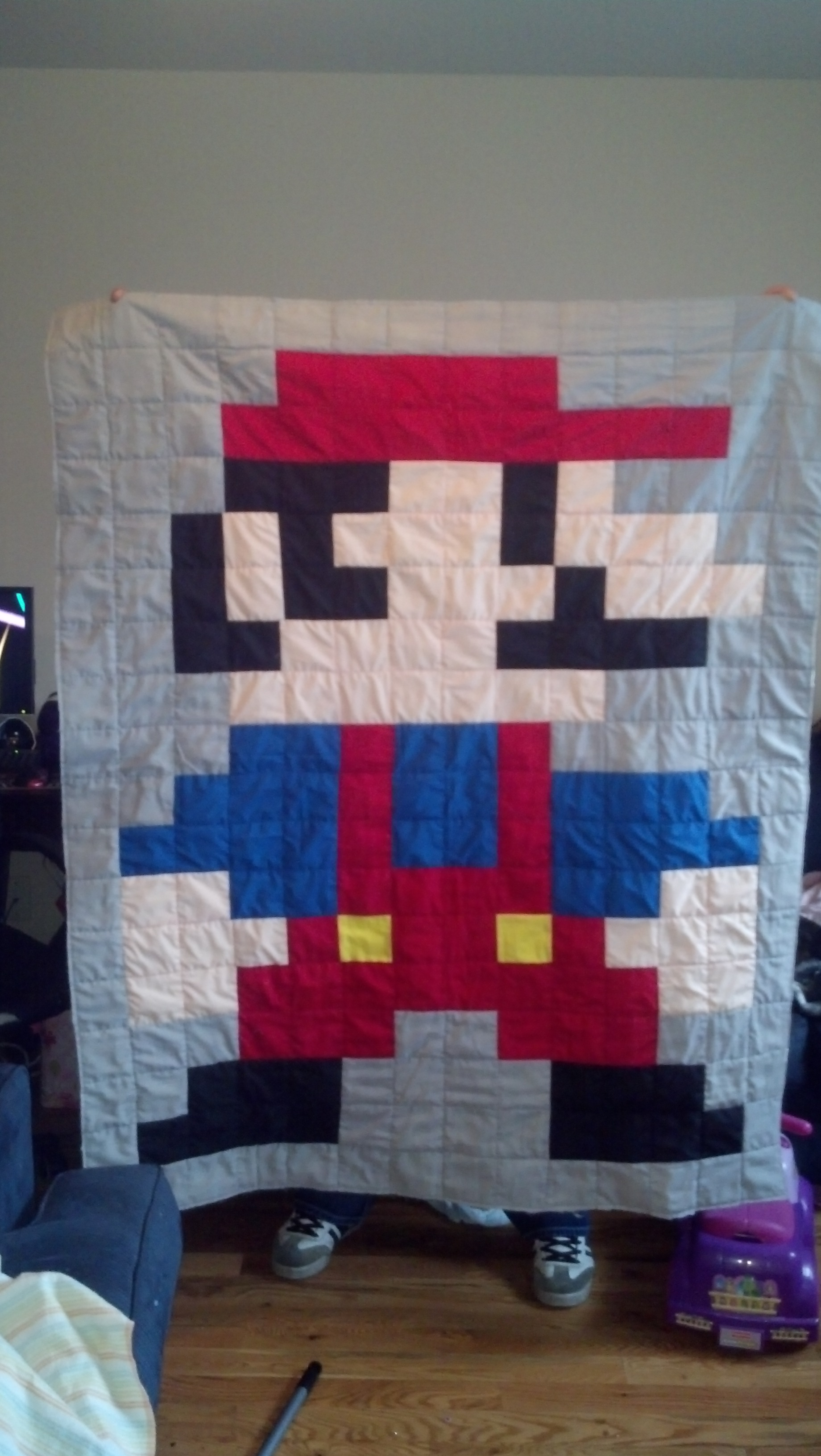 The Great 8-Bit Mario Quilt Adventure | tolmema : 8 bit quilt - Adamdwight.com